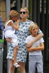 Kelly Rutherford out in NYC with kids Helena and Hermes Giersch