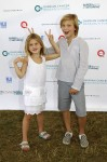 Kelly Rutherford's kids Helena and Hermes Giersch at Super Saturday in the Hamptons