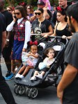 Kim Kardashian at DIsneyland with North West