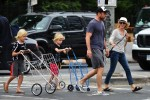 Liev Schreiber & Naomi Watts Out In NYC with sons Sasha and Samue