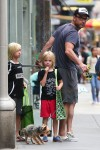 Liev Schreiber Out In NYC with sons Sasha and Samue