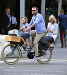 Liev Schreiber and Naomi Watts Out For A Bicycle Ride In NYC with son Sasha