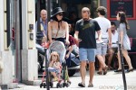 Maggie Gyllenhaal and Peter Sarsgaard in paris with their daughters Ramona & Gloria