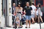 Maggie Gyllenhaal and Peter Sarsgaard in paris with their daughters Ramona & Gloria