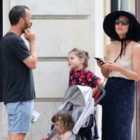Maggie Gyllenhaal & Her Family Vacation in Paris