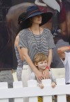 Marion Cotillard and cute son Marcel cheer for her husband Guillaume Canet during Longines Global Champions Tour