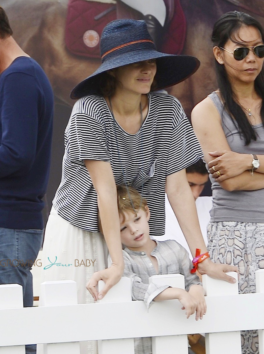 Britax Click Tight >> Marion Cotillard and cute son Marcel cheer for her husband Guillaume Canet during Longines ...