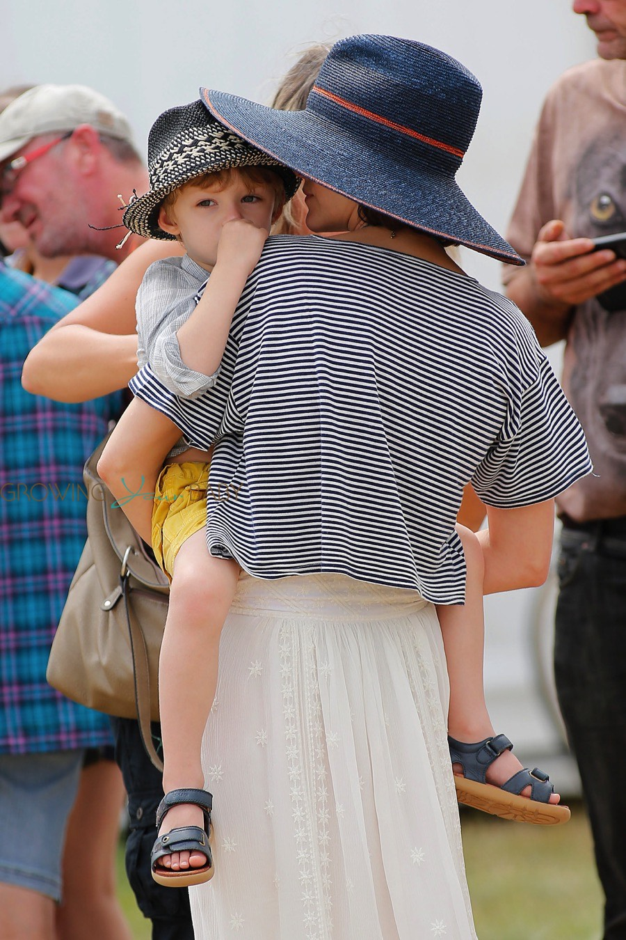 Marion Cotillard and her son Marcel cheer for her husband ...