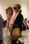 Nicole Kidman with daughter Faith Urban at LAX
