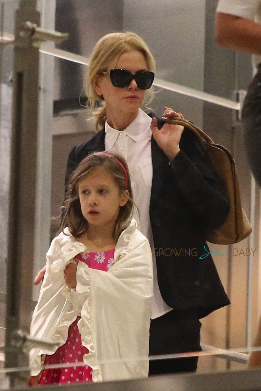 Nicole Kidman With Daughter Sunday Urban At Lax Growing