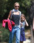 Nicole Richie with daughter at the Museum in LA