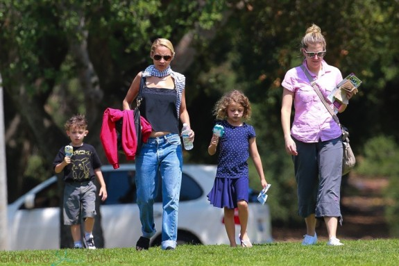 Nicole Richie with kids Sparrow & Harlow Madden at the Museum in LA