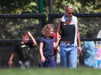 Nicole Richie with kids Sparrow and Harlow Madden at the Museum in LA