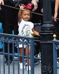 North West at Disneyland for Penelope's Birthday