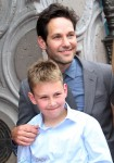 Paul Rudd with son Jack at Walk of Fame Ceremony