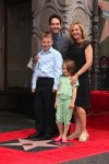 Paul Rudd with wife Julie and kids Darby & Jack at Walk of Fame Ceremony