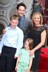 Paul Rudd with wife Julie and kids Darby and Jack at Walk of Fame Ceremony