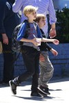 Shiloh Jolie-Pitt and brother Knox at his birthday