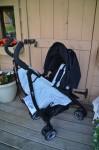 Summer Infant 3DFlip Convenience Stroller - fully reclined rear facing
