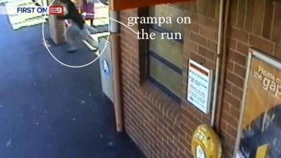Sydney Grampa Rescues Baby Off Train Tracks