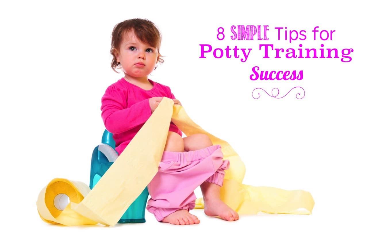 8 simple tips potty training