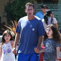 Adam Sandler Enjoys Breakfast With His Girls!