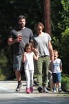 Ben Affleck & Jennifer Garner out for a stroll in Atlanta with kids Sam, Seraphina & Violet