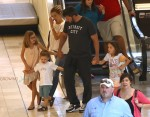 Ben Affleck & Jennifer Garner out in Atlanta, Georgia with their kids Seraphina, Samuel and Violet