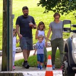 Ben Affleck and Jennifer Garner out for a stroll in Atlanta with kids Sam, Seraphina & Violet