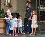 Ben Affleck and Jennifer Garner out in Atlanta, Georgia with their kids Seraphina, Samuel & Violet