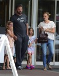 Ben Affleck and Jennifer Garner out in Atlanta, Georgia with their kids Seraphina and Violet