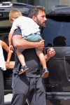 Ben Affleck carries son Samuel during a family out with wife Jennifer Garner