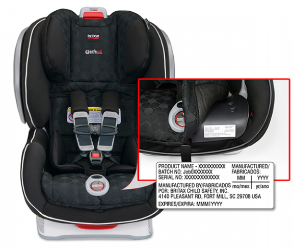 Britax ClickTight Convertible Recall finding your serial number