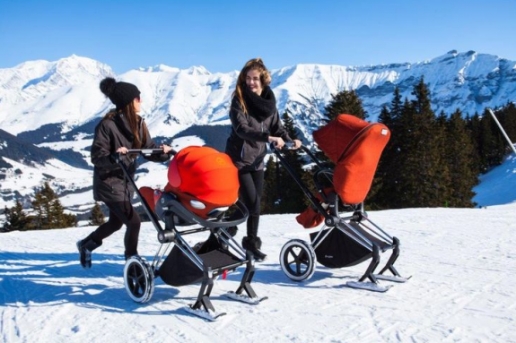 Cybex Priam on Skiis