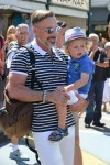 David Furnish with son Elijah in St