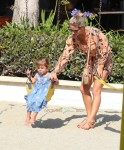 Elsa Pataky at the Park with her daughter India Hemsworth