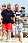 Elton John & David Furnish in St. Tropez with sons Elijah & Zachary