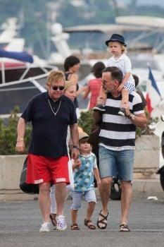 Elton John and David Furnish in St