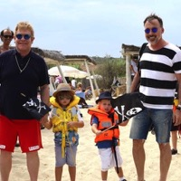 Elton John & David Furnish Vacation in St. Tropez With Their Boys