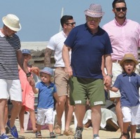 Elton John and David Furnish Step Out With Their Boys In France
