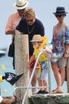 Elton John in St. Tropez with son Zachary
