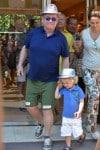 Elton John with son Elijah in St