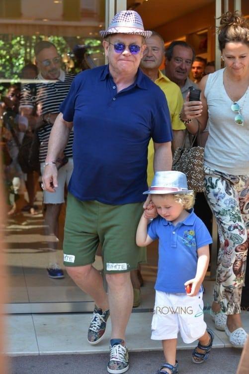 Elton John with son Elijah in St. Tropez