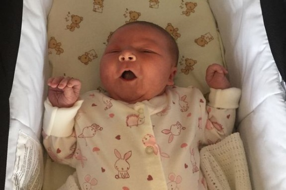 First girl born to family in 117 years Saoirse Grace May