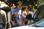 Halle Berry out in Malibu with husband Olivier Martinez, son Maceo and daughter Nahla