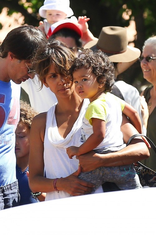 Halle Berry out in Malibu with son Maceo