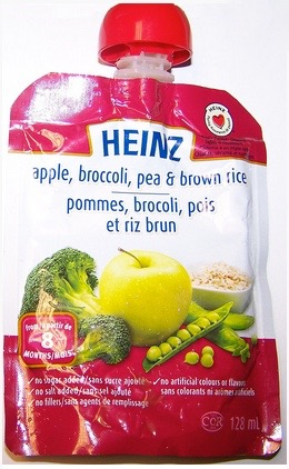 Heinz Apple, broccoli, pea & brown rice