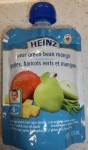 Heinz brand Pear Green Bean Mango recalled