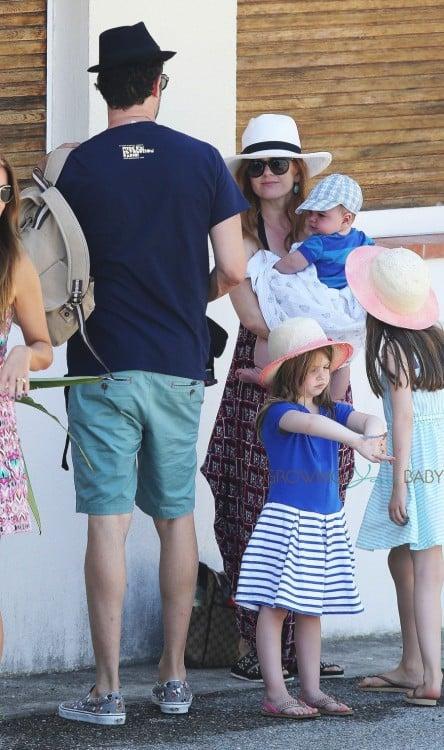 Isla Fisher and Sacha Baron Cohen Vacation In Monaco with kids Olive, Ulula and Montgomery