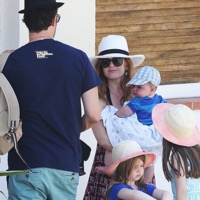Isla Fisher & Sacha Baron Cohen Vacation in The French Riviera With Their Kids